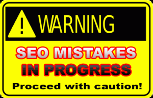SEO Mistakes In Progress